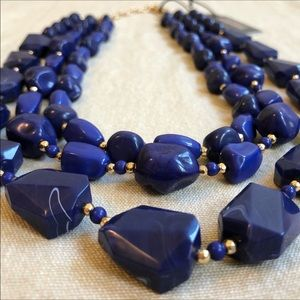 ⭐️ NWT Navy & Gold SugarFix by BaubleBar Necklace
